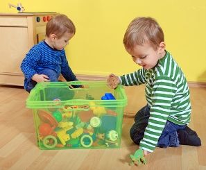 Toys have a knack for splitting and multiplying like cells, and if you're not careful they can end up taking over the entire house!  The only way to combat this invasion is to tame the clutter.
