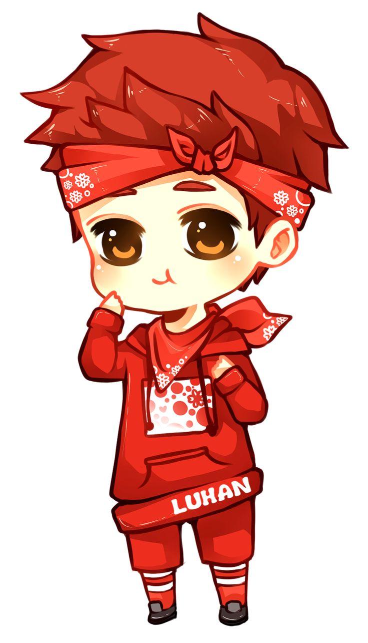 EXO manga | Luhan in red by *Erubii on deviantART