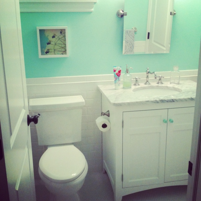 Green Home Bathroom: Mint Green Bathroom This Is The Kids Bathroom Color
