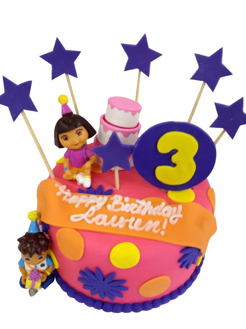 Best Birthday Cakes Images On Pinterest Birthday Cakes Nut - Dora birthday cake toppers
