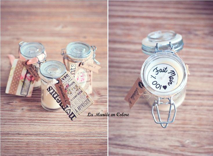 Mariage petit budget cadeau invité original bougies
