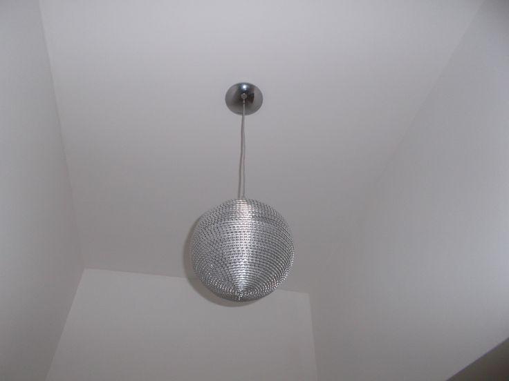 Disco Ball in my shoe room :D