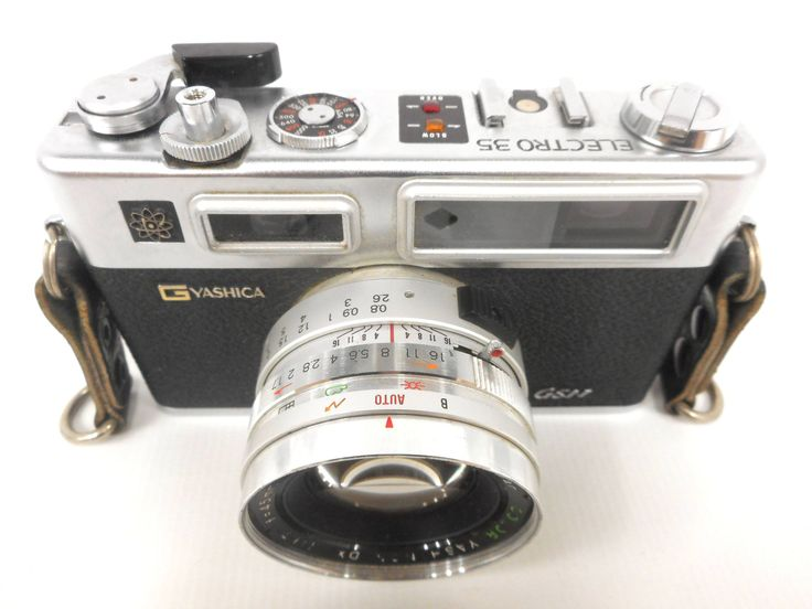 Vintage Yashica 35mm Camera Model GSN Electro 35, Color Yashinon DX 1.7, f-45mm Lens, Straps