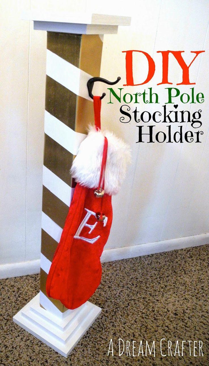 North Pole Stocking Holder Christmas stocking holders