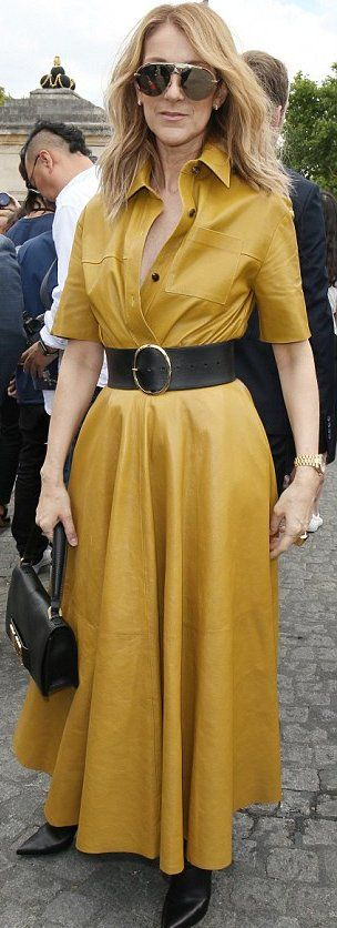 Celine Dion in Dior attends the Christian Dior Fall 2018 Couture show during Paris Fashion Week. #bestdressed