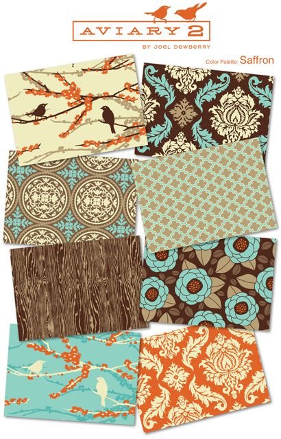 Love these fabrics together. Pillows! Or - recovering dining room chair seats.....