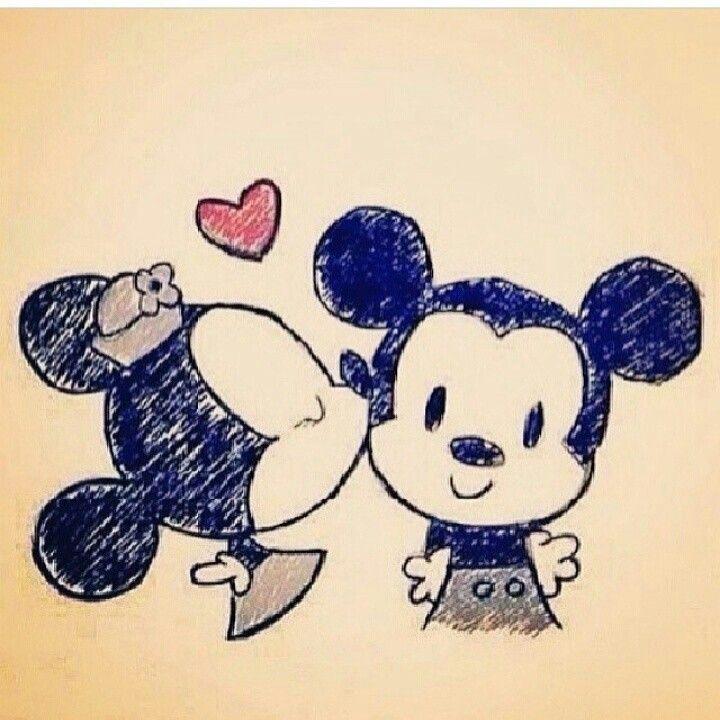 Minnie and Mickey older version