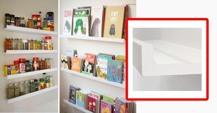 Aus der Bilderleiste MOSSLANDA bastelst du superschnell und einfach ein neues Gewürzregal oder ein Magazin- und Bücherregal.