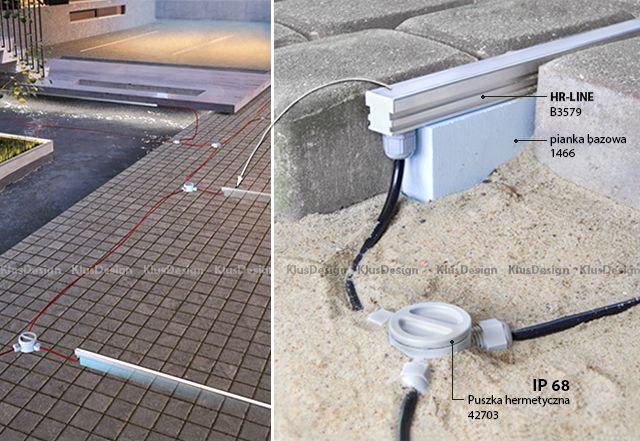 Oswietlenie LED - Podjazd, parking   Klusdesign.pl
