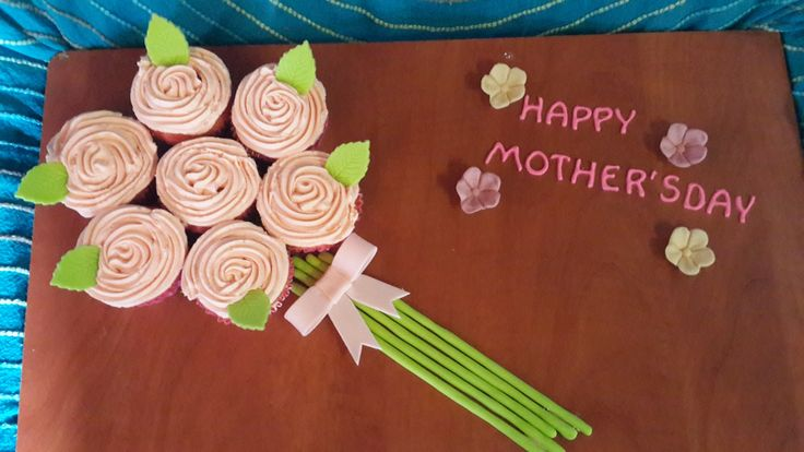 Mothers day cupcakes for my mother-in-law