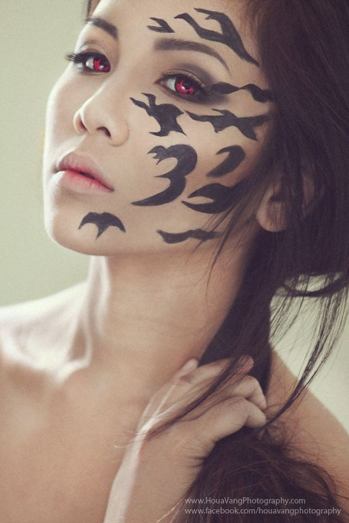 17 best images about tattoed girls face neck hands on