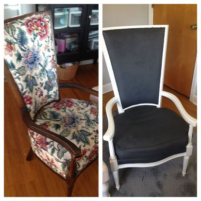 the painted fabric chairs, painted furniture, reupholster