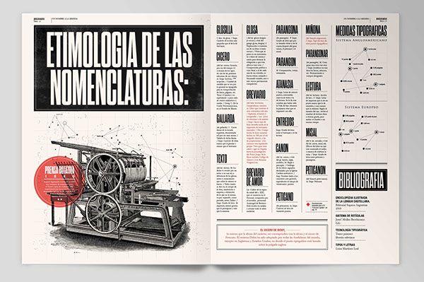 Publicacion de 16 paginas para la materia Tipografia II, Gaitto 2012, se trata del practico final de la cursada.