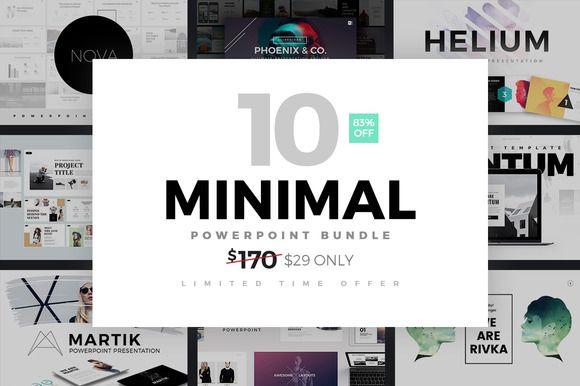 Minimal PowerPoint Template Bundle by Slidedizer on @creativemarket