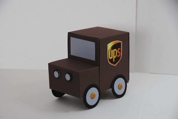 ups truck Jill Hillard. Oh my goodness, I have to know how to make this since I'm married to a UPS guy!