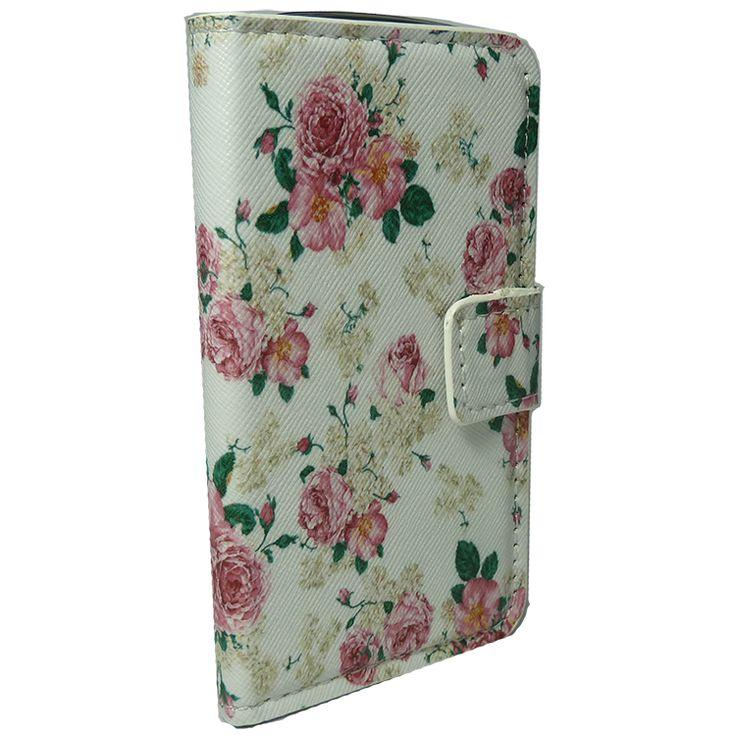 Θήκη πορτοφόλι για Galaxy Duos Λουλούδια Λευκή http://mikromagazo.gr/_p810.html