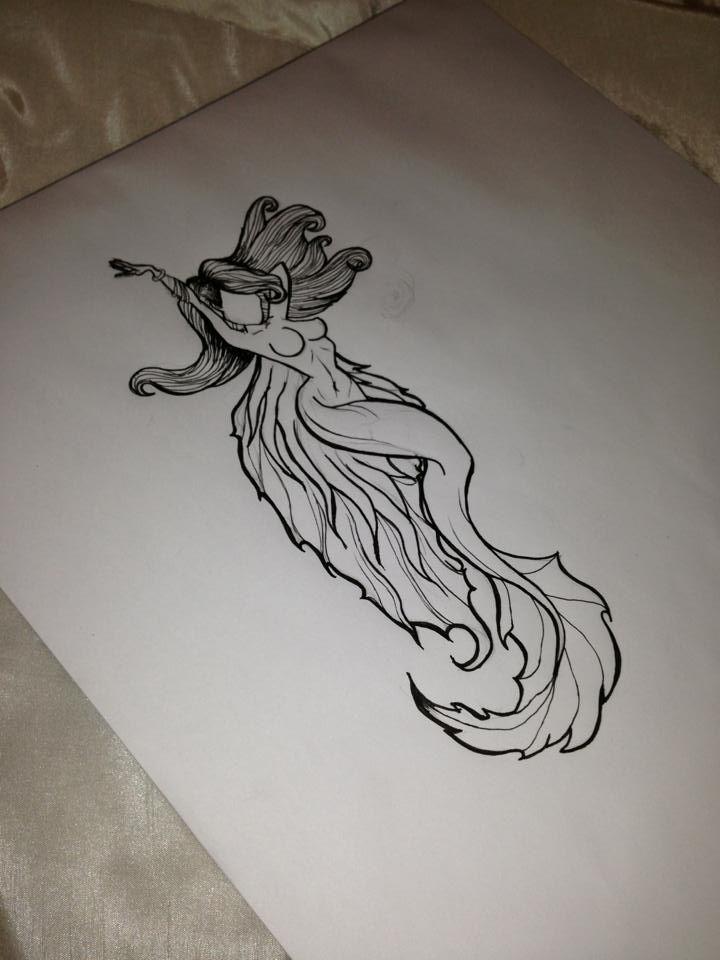 mermaid tattoo design