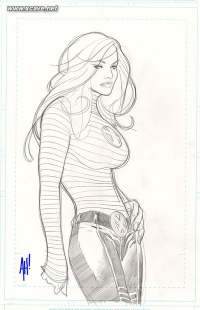 Jean Grey by Adam Hughes - his work is total cheesecake, but I just can't get enough it!