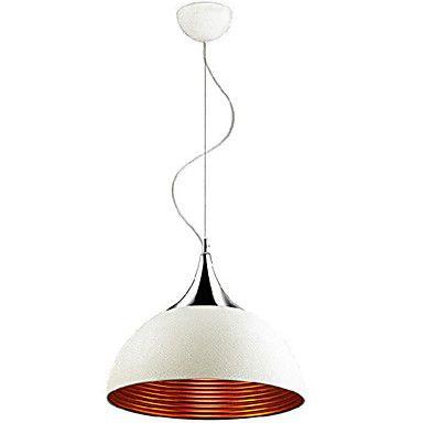 White Pendant Lamp 1 Light  Modern Silver Chrome  Metal – AUD $ 192.61
