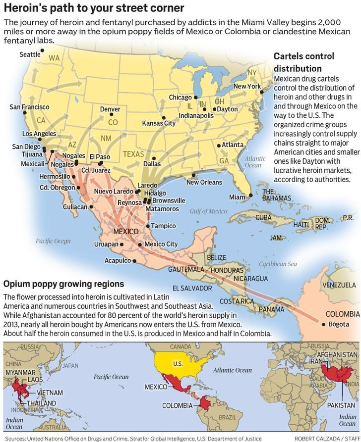 Heroin epidemic traced to the drug cartels in Mexico|Ohio News | www.mydaytondailynews.com