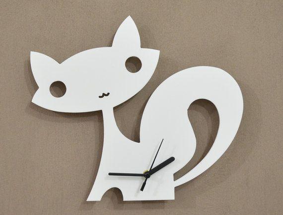 Fox Kids Cartoon Silhouette - Wall Clock