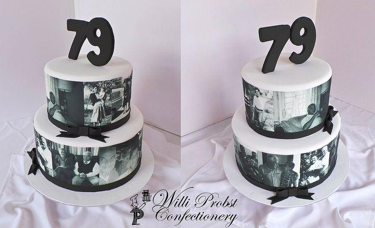 Black Amp White Men S 79th Birthday Cake Special Birthday