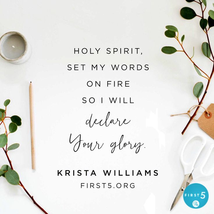"""""""The most important characteristic of the filling of the Holy Spirit on the Day of Pentecost was power. When the Holy Spirit came and filled all the disciples, they were no longer cowering in fear behind locked doors. Suddenly, this little band of believers boldly began to declare the glory of God. It was a REAL change. Change from the inside out."""" -Krista Williams"""