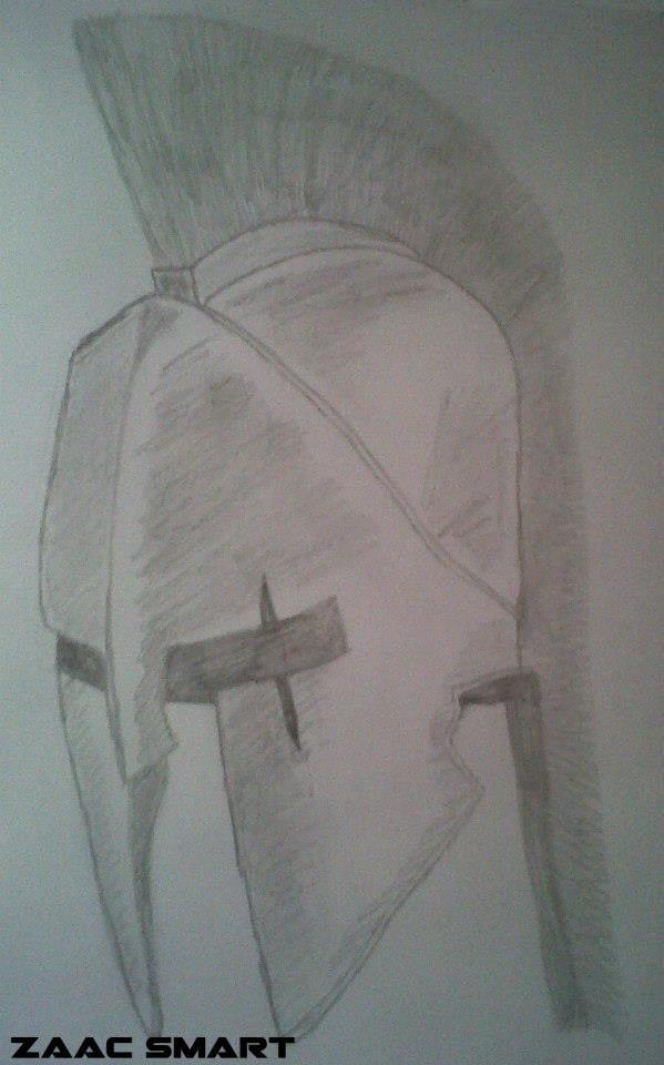 Spartan Helmet drawing | Majestic Art | Pinterest ...
