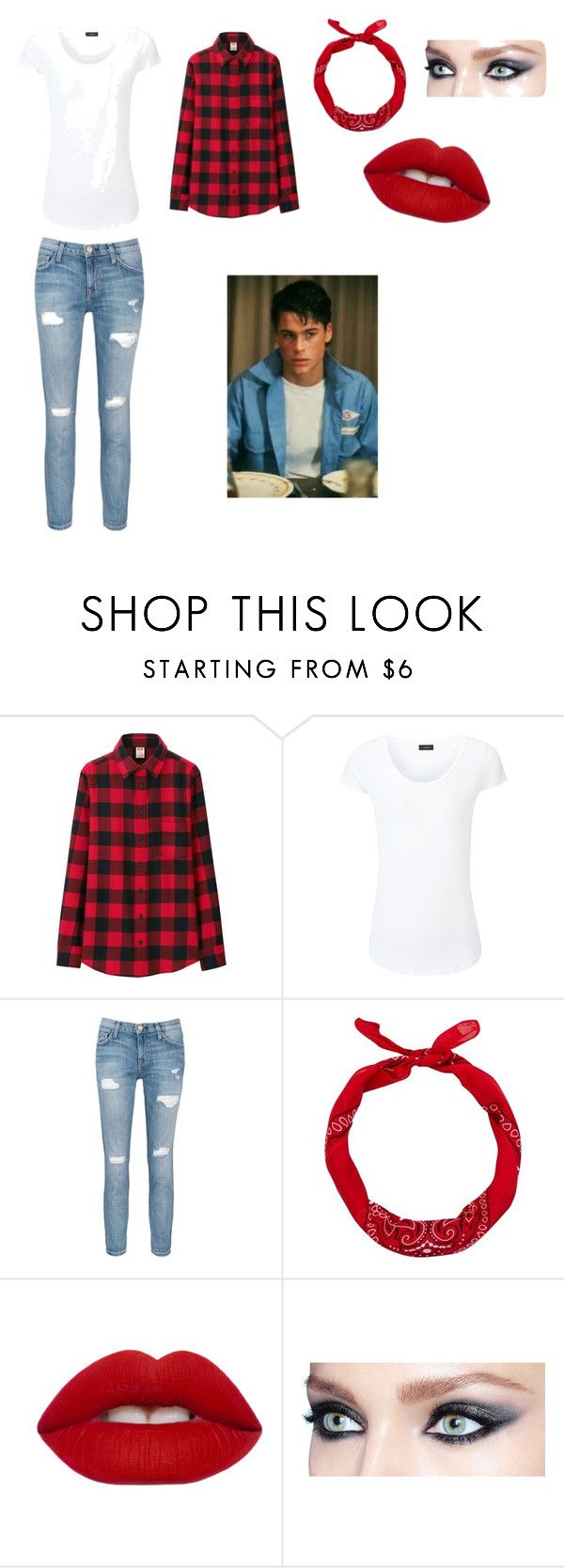 """""""Sodapop Curtis's girl"""" by alexis-makenzie-liscio on Polyvore featuring Uniqlo, Joseph, Current/Elliott and Lime Crime"""