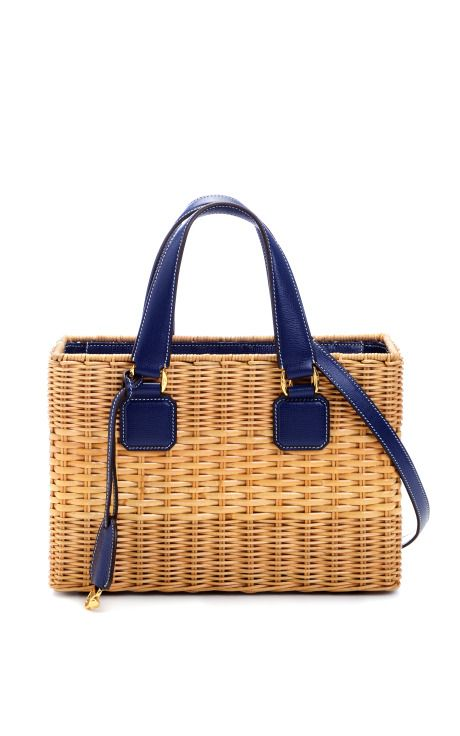 Manray Rattan Small Tote by  Mark Cross for Preorder on Moda Operandi