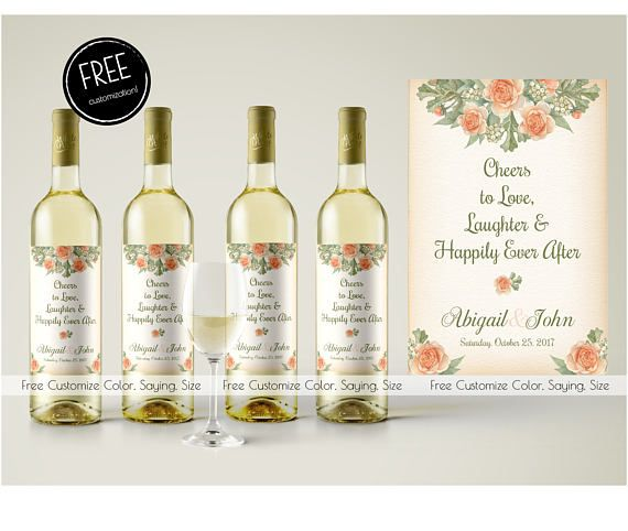 Wine Bottle Label Wedding Wine Label Wedding Table Wine