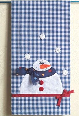 Craft Ideas : Projects : Details : snowman-tea-towel