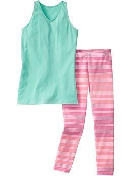 Girls Jersey Tunic & Legging Sets