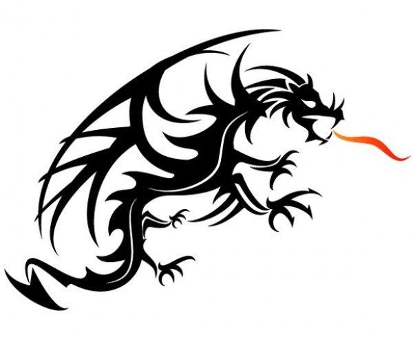 картинки векторные дракон