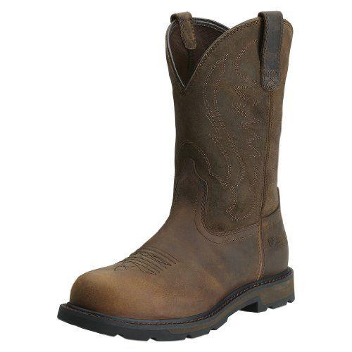 Ariat Men's Groundbreaker Pull On Steel-Toe Work Boot - http://bigboutique.tk/product/ariat-mens-groundbreaker-pull-on-steel-toe-work-boot/