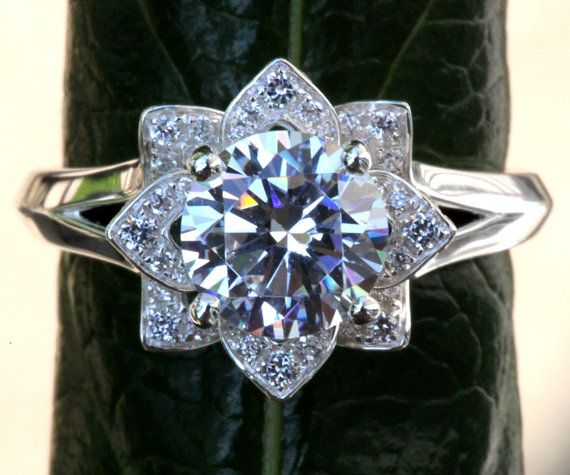 CERTIFIED  UNIQUE Flower Rose Diamond Engagement by BeautifulPetra, $18000.00
