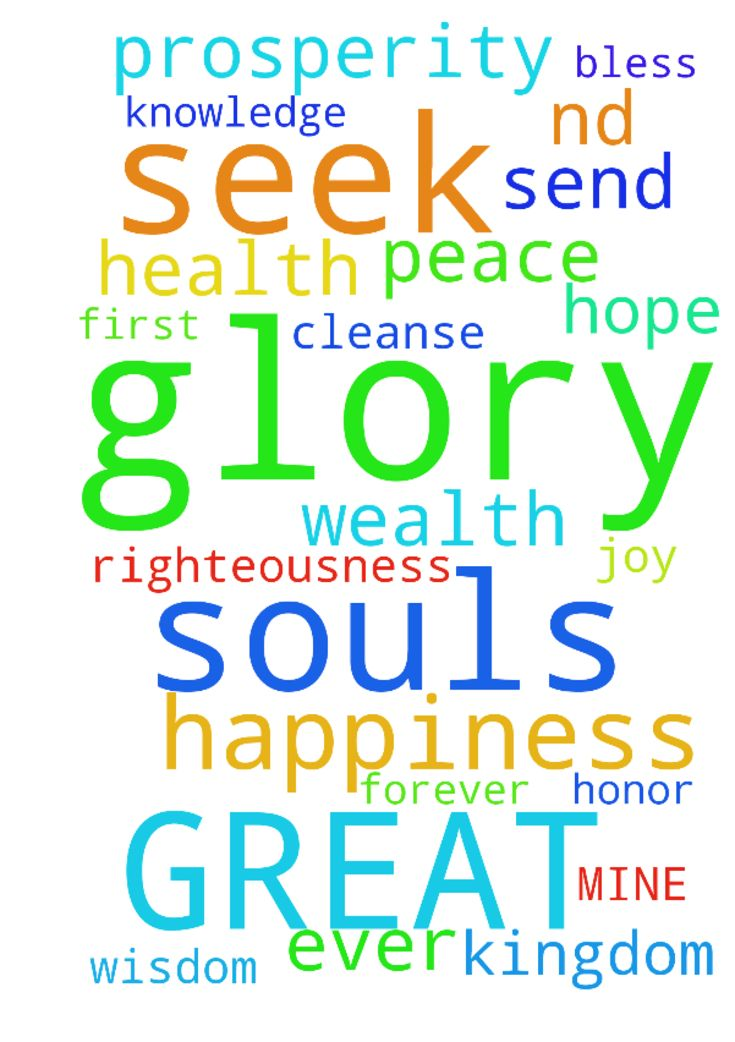 GREAT FATHER OF MINE -  FATHER CLEANSE ALL OF OUR SOULS AND SEND US 2ND PROSPERITY IN JESUS NAME BLESS US ALL WITH PEACE HAPPINESS WEALTH HEALTH WISDOM KNOWLEDGE HOPE JOY IN JESUS NAME WE SEEK YOU FIRST FATHER IN YOUR KINGDOM AND RIGHTEOUSNESS IN JESUS NAME ALL GLORY AND HONOR IS YOURS FOREVER AND EVER AMEN GLORY BE AMEN  Posted at: https://prayerrequest.com/t/uOy #pray #prayer #request #prayerrequest