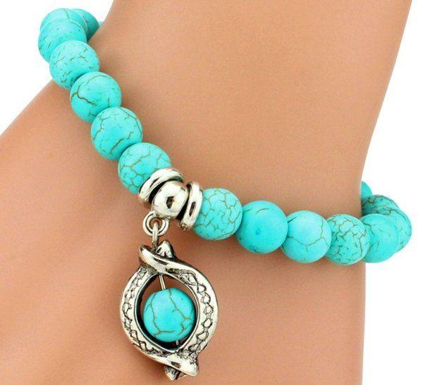 13.99$ - Bohemian Turquoise Bead Bracelet - Miss Fit Boutique