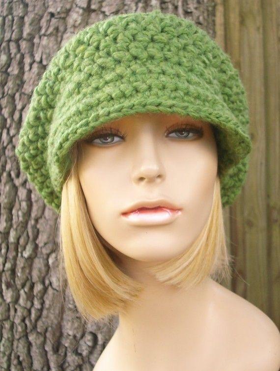 Sombrero de mujer verde verde vendedor de periódicos sombrero