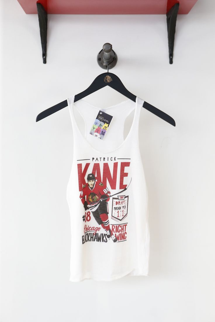 Check out this Patrick Kane women's tank designed by one of our fans! Buy it exclusively at the Blackhawks Store!