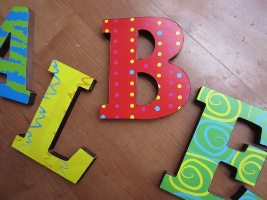 17 best images about merin 39 s nursery on pinterest metal for Small wooden letters for crafts