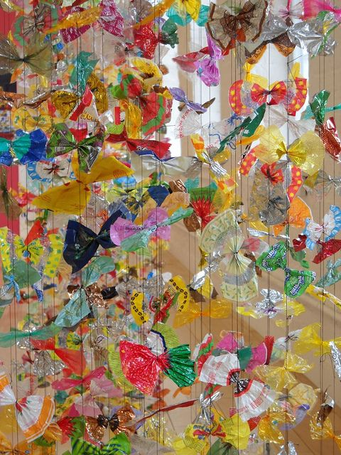 """Luisa Caldwell's """"Candy Wrapper Curtain"""" at Kidspace in MassMoca North Adams, MA   Flickr - Photo Sharing!"""