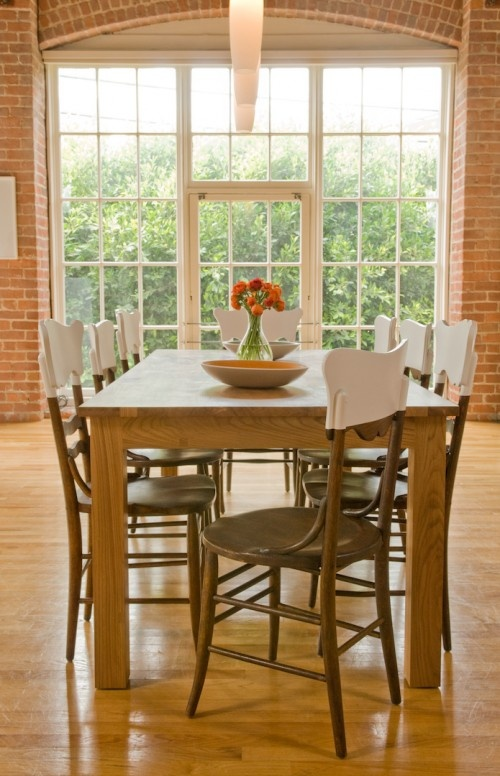 White Dipped Chairs For A More Modern Dining Room By Ed Ritger Photography