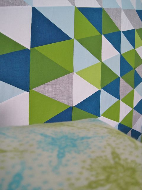 mimic colors w/ striped triangles?