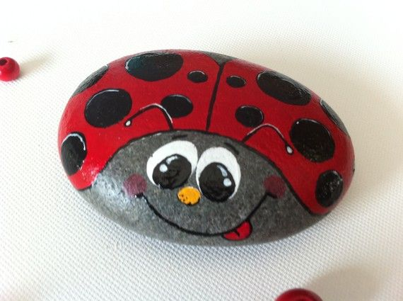 This listing is reserved for Ladybugcall. Please do not purchase.    Start out your Rock art ladybug collection with a classic ladybug rock. Carefully hand painted on original Colorado River rock, this little ladybug will bring good luck and cheer to you or someone you love.    This listing is for one ladybug rock in the design listed. It will be made to order and can be customized with another color or a name upon request. Completion time is approx. one week, but can be faster if needed…