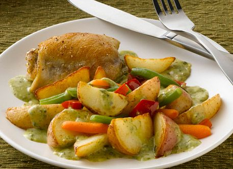 Easy Chicken and Pesto Potato Skillet Recipe from Simply Potatoes