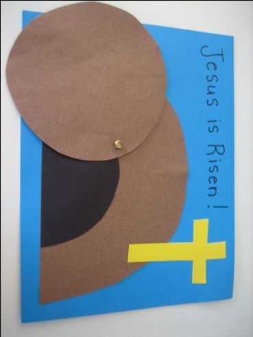 Easy paper craft empty tomb - would be perfect for 3/4 year old Sunday School class