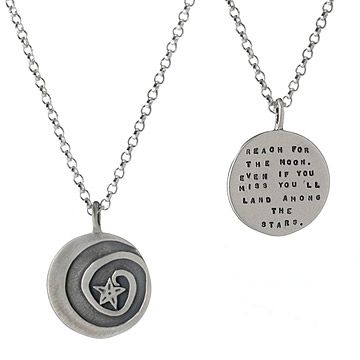 Look what I found at UncommonGoods: Reach for the Moon Pendant for $97.00