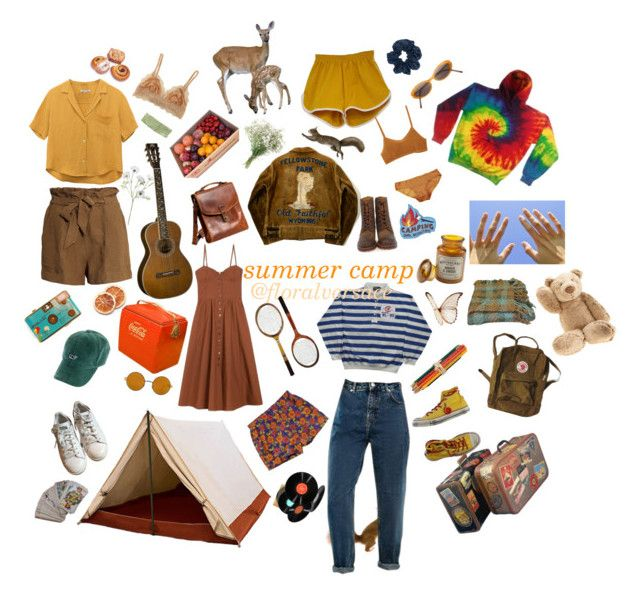 """obligatory summer camp set"" by versnatched on Polyvore featuring Jellycat, adidas, H&M, Cosabella, Overland Sheepskin Co., Retrò, RVCA, Eberjey, Frye and Maryam Nassir Zadeh"