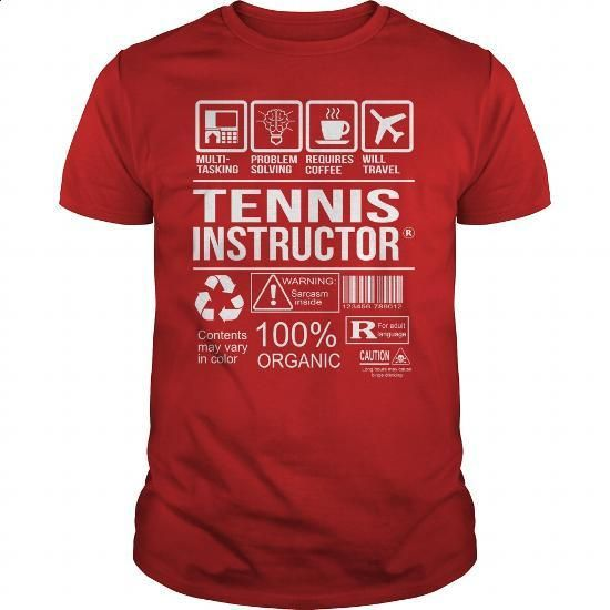 Awesome Tee Shirt Tennis Instructor - #long sleeve t shirts #design t shirts. SIMILAR ITEMS => https://www.sunfrog.com/LifeStyle/Awesome-Tee-Shirt-Tennis-Instructor-Red-Guys.html?60505